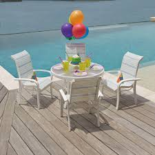 Lloyd Flanders Bay Breeze Lloyd Woodard Toddler Outdoor Dining Set With Four Chairs 6v0067
