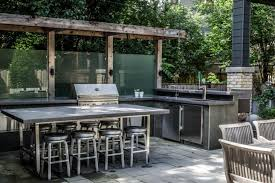 L Shaped Outdoor Kitchen by 17 Outdoor Kitchen Island Designs Ideas Design Trends