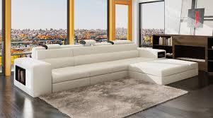 canapé m deco in canape d angle meridienne blanc design en cuir