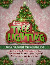 christmas tree lighting at railroad park december 21 2016 whedco
