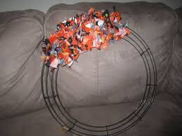 make a halloween wreath getting crafty halloween rag wreath diary of a working mom