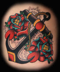 roses and anchor