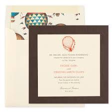 Wedding Invitation E Cards Personalized Air Balloon Wedding Invitation Einvite Com