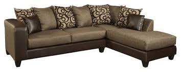 Chenille Sectional Sofas Chenille Sectional Set Object Espresso Transitional Sectional