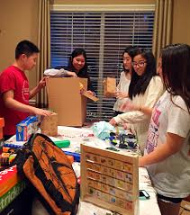 the houston branch participates in the christmas gift giving event
