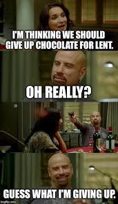 Lent Meme - skinhead john travolta meme imgflip