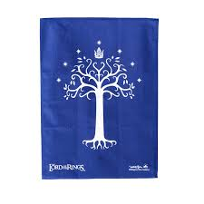 lord of the rings white tree of gondor tea towel zing pop culture
