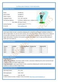 Sample Resumes Online by Examples Of Resumes 87 Glamorous Cv Format Example In Ms Word