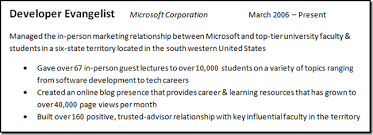 Achievements Resume Examples by How To Get A Job At Microsoft Part Ii Writing An Awesome Resume