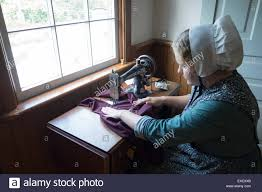 mennonite woman stock photos mennonite woman stock images alamy mennonite home old sewing vintage woman stock image