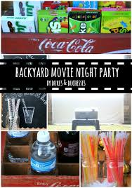 backyard movie night party dukes and duchesses