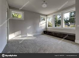 Grey Wall Paint by Empty Room Interior With Grey Walls Paint Color U2014 Stock Photo