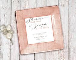 wedding invitation plate keepsake wedding plate etsy