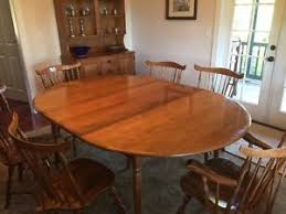 Maple Dining Room Table And Chairs Vintage 1960s Maple Dining Set 6 Brace Back Chairs Table