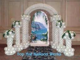 wedding arches and columns balloon wedding arches top hat balloon werks add that special