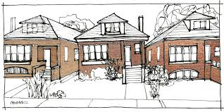 chicago bungalow floor plans chicago building types bungalows moss architecture