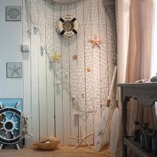 net decor mediterranean style fishing net decor cotton fabric nautical fish