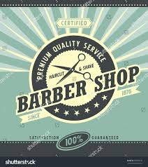 barber shop retro poster design template stock vector 359669135