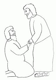 bible story coloring peter heals crippled man free bible