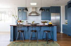 kitchen cabinet ideas with wood floors blue kitchen cabinets eye catching designs in a variety of