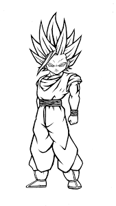 gohan coloring page free download