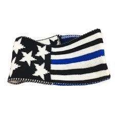 Blue And White Flag With Red C Thin Blue Line Usa Law Enforcement Products