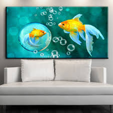 popular koi paintings buy cheap koi paintings lots from china koi home wall decor dind feng shui fish koi painting printed on canvas