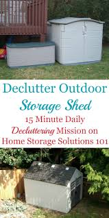 how to declutter outdoor storage shed
