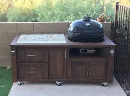 kamado joe grill table plans grill tables cabinets for kamado joe primo or big green egg