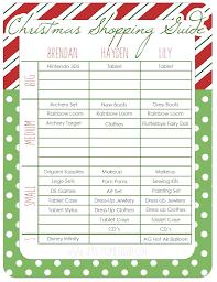 christmas shopping list printable christmas shopping list free diy printable how to