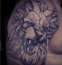 angry looking lion tattoo tattoomagz