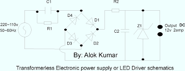 Wiring Diagram Power Supply Also Converter Circuit On Electronic Circuits Transformerless Power Supply Led Drivers