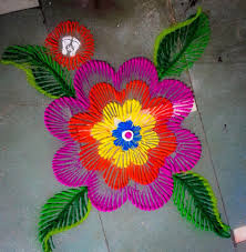 making rangoli design beautiful art step by step tutorial easy