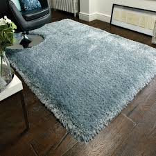 Duck Rugs Pearl Duck Egg Plain Shaggy Rug Therugshopuk