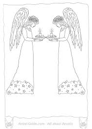 coloring pages angels christmas candle light christmas