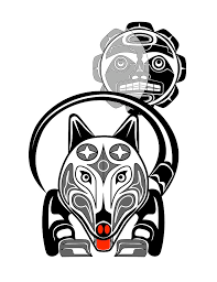 wolf moon totem drawing by fred croydon