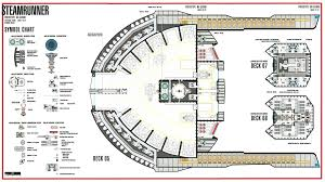 Starship Floor Plan Star Trek Blueprints Steamrunner Class Starship Prototype Nx 52000