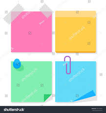 color paper color paper stickers notes flat vector stock vector 321613784