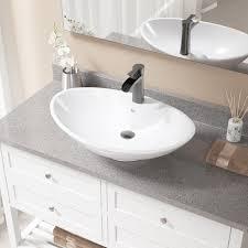 Oval Bathroom Sinks Mrdirect Oval Vessel Bathroom Sink With Overflow U0026 Reviews Wayfair