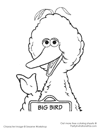 big bird coloring pages eson me