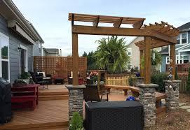 free deck and pergola design ideas backyard 30391 interior decor