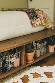How To Build A Queen Size Platform Bed With Storage by Best 25 Diy Bed Frame Ideas On Pinterest Pallet Platform Bed
