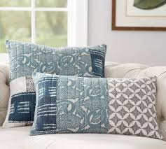 Pottery Barn Kilim Pillow Cover Malibu Patchwork Pillow Covers Pottery Barn