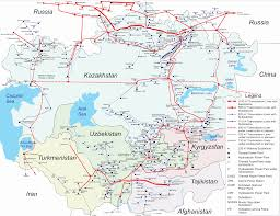 Central Asia Map by Map Of Central Asian Electricity Grid Central Asia National
