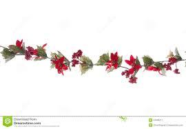 christmas garland isolated stock image image 34496211