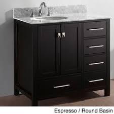 Overstock Vanity Stufurhome 36 Inch Malibu Grey Single Sink Bathroom Vanity