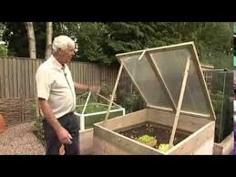 wooden cold frame allotment and raised bed frost protection
