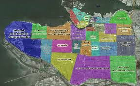 Map Vancouver Canada by Vancouver Stereotype Map Stereotype Maps Pinterest Future
