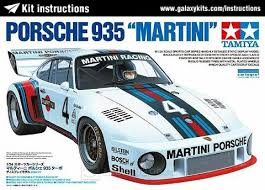 porsche instructions kit instructions porsche 935 martini tamiya kit instruction 1 12