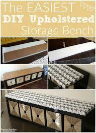 Padded Bench Seat With Storage Best 25 Diy Upholstered Storage Bench Ideas On Pinterest Diy